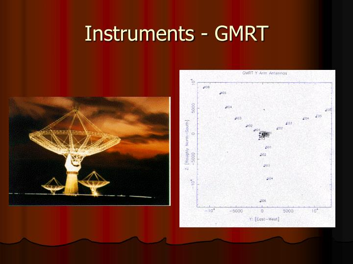 Instruments - GMRT