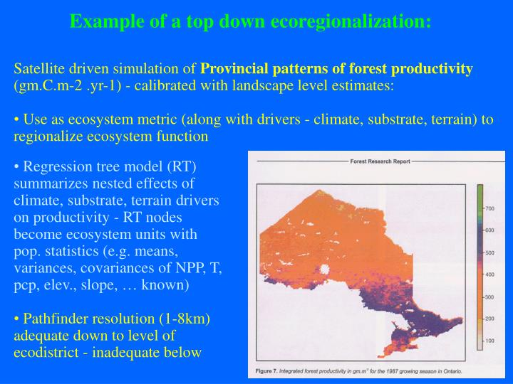 Example of a top down ecoregionalization: