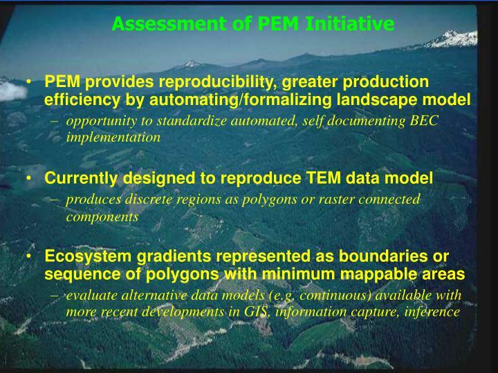 Assessment of PEM Initiative