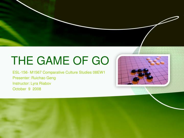 the game of go n.