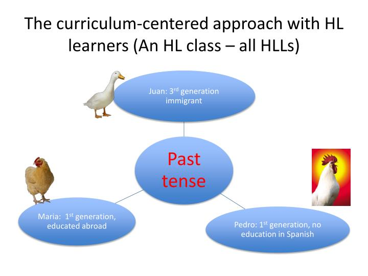 The curriculum-centered approach with HL learners (An HL class – all HLLs)