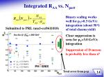 integrated r aa vs n part