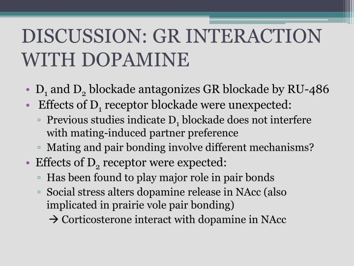 DISCUSSION: GR INTERACTION WITH DOPAMINE