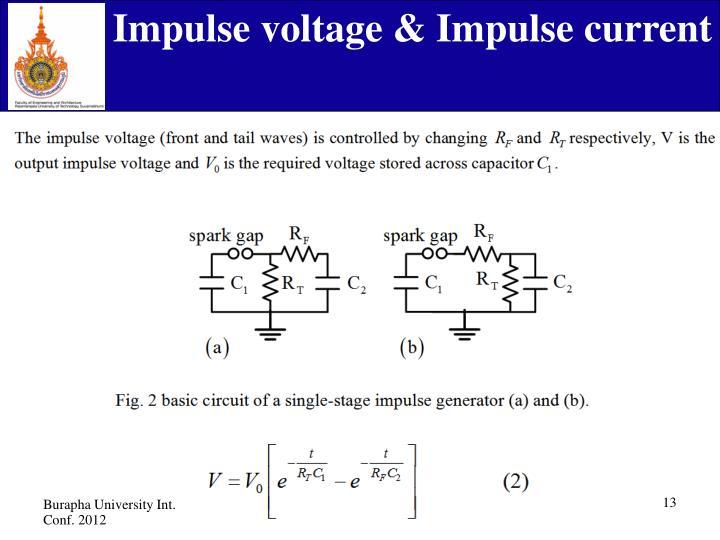 Impulse voltage & Impulse current