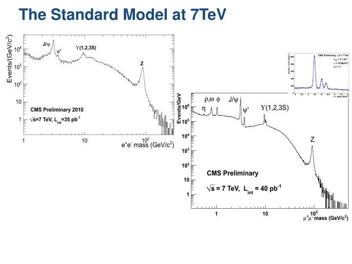The Standard Model at 7TeV