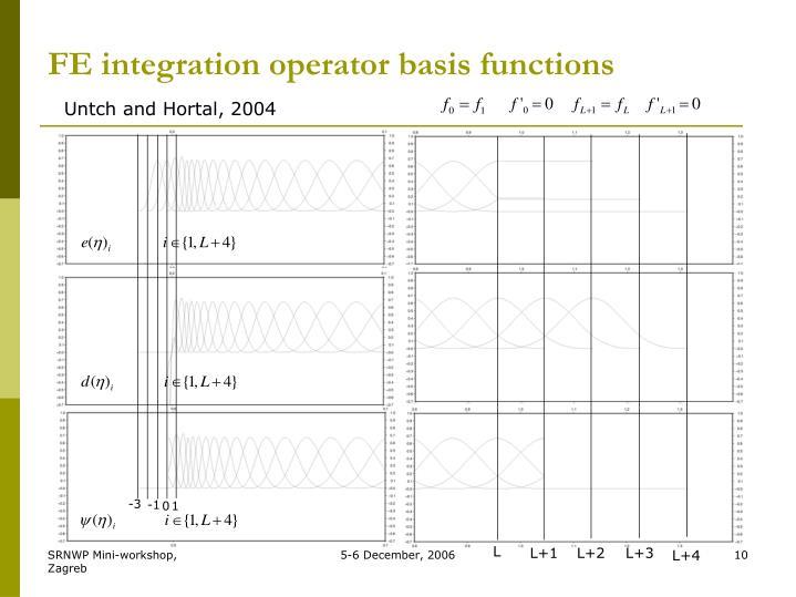 FE integration operator basis functions