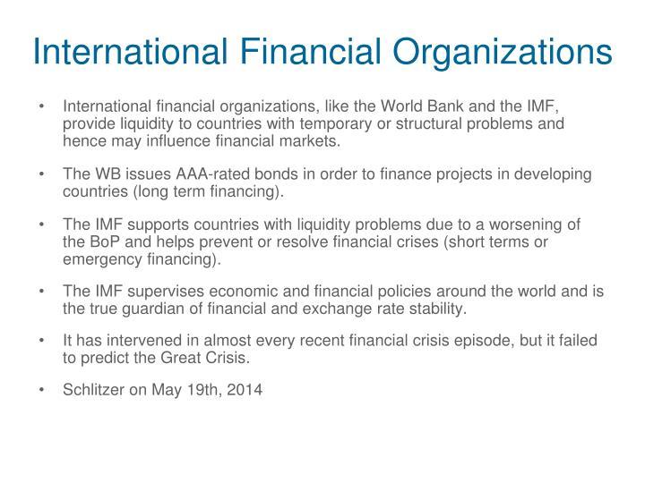 International Financial Organizations