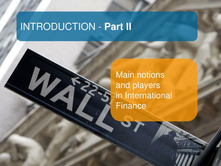 INTRODUCTION -