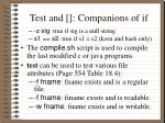 test and companions of if4