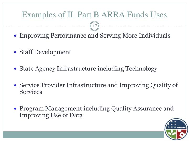 Examples of IL Part B ARRA Funds Uses