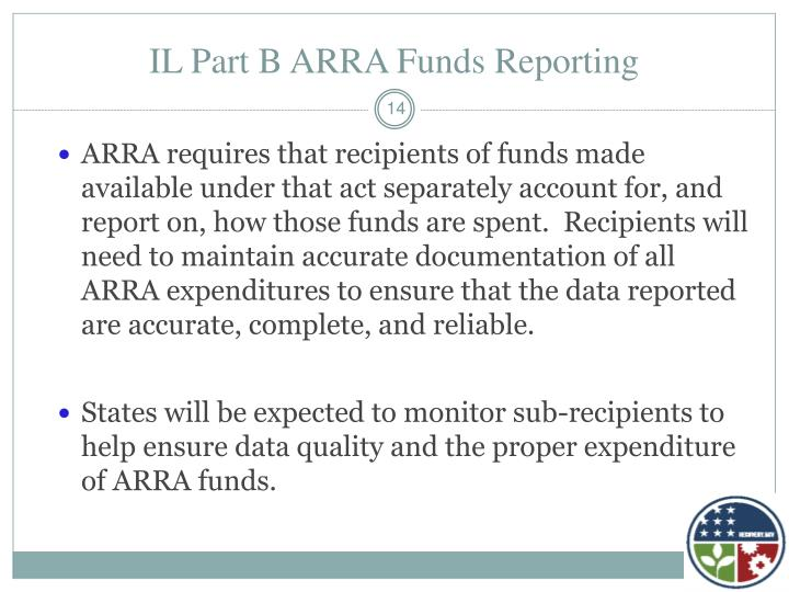 IL Part B ARRA Funds Reporting