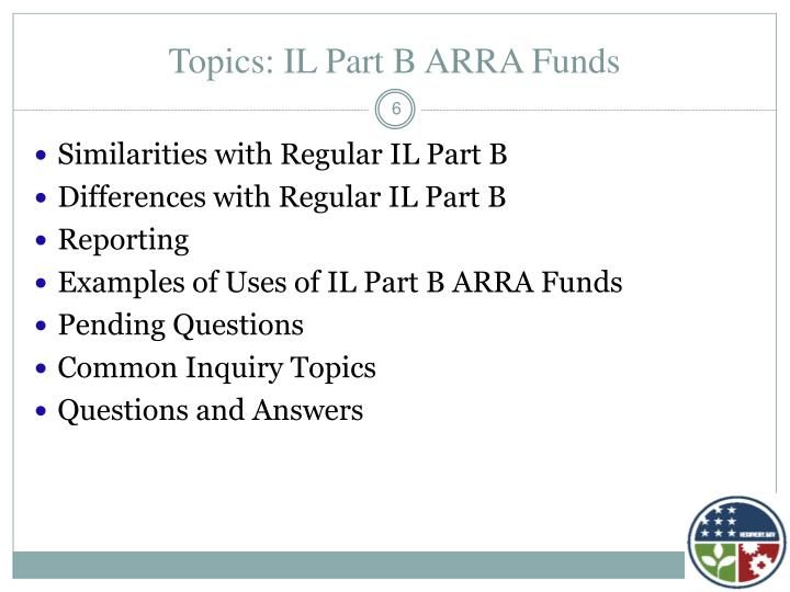 Topics: IL Part B ARRA Funds