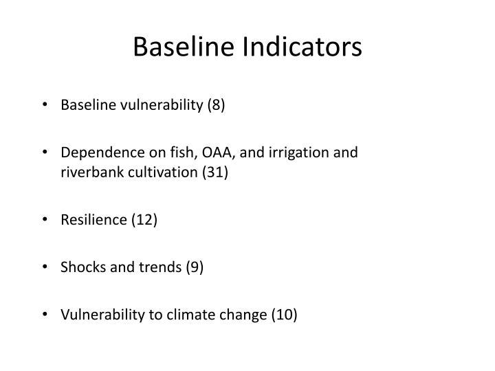 Baseline Indicators