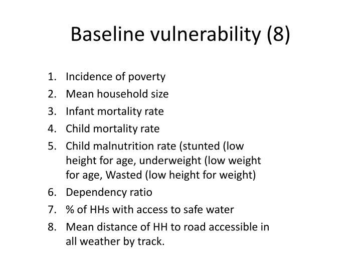 Baseline vulnerability (8)