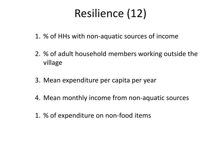 Resilience (12)