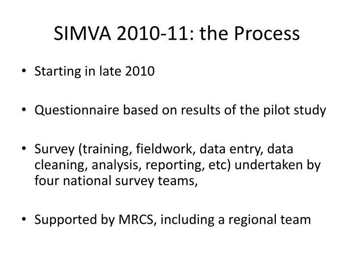 Simva 2010 11 the process