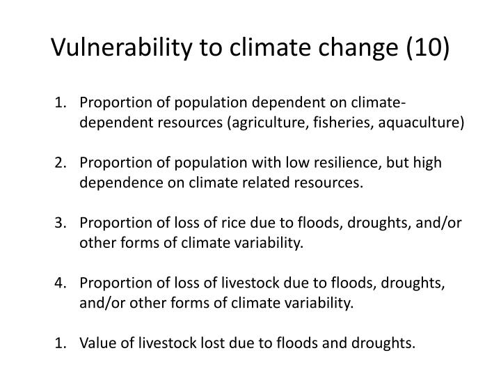 Vulnerability to climate change (10)