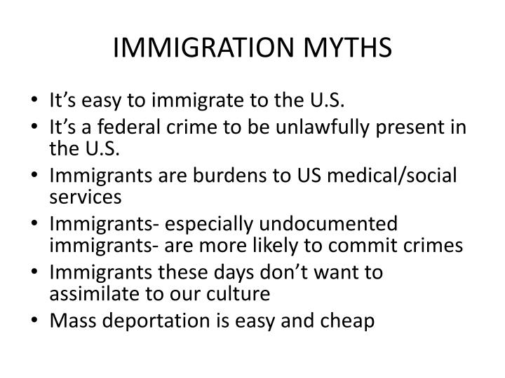 five myths about immigration essay Politifact and punditfact have published more than 400 fact-checks dealing with immigration since 2007 here are five myths we' 5 myths about immigration.