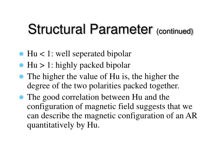 Structural Parameter