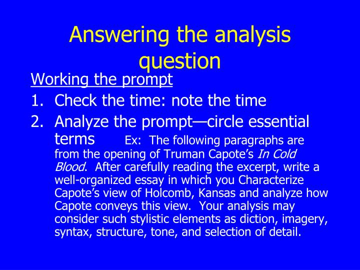 prose analysis essay prompts You can use the free response questions and scoring guidelines below as you prepare for the ap english literature and composition.
