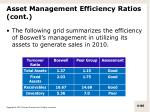 asset management efficiency ratios cont9