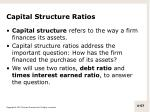 capital structure ratios1
