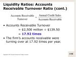 liquidity ratios accounts receivable turnover ratio cont1