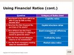 using financial ratios cont