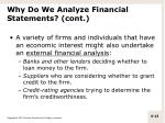 why do we analyze financial statements cont1