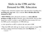 shifts in the cpb and the demand for hk education