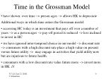 time in the grossman model