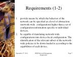 requirements 1 2