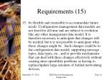 requirements 15