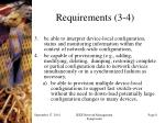 requirements 3 4