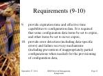 requirements 9 10