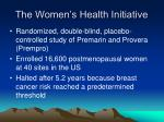 the women s health initiative