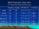 whi premarin only arm 10 739 women post hysterectomy
