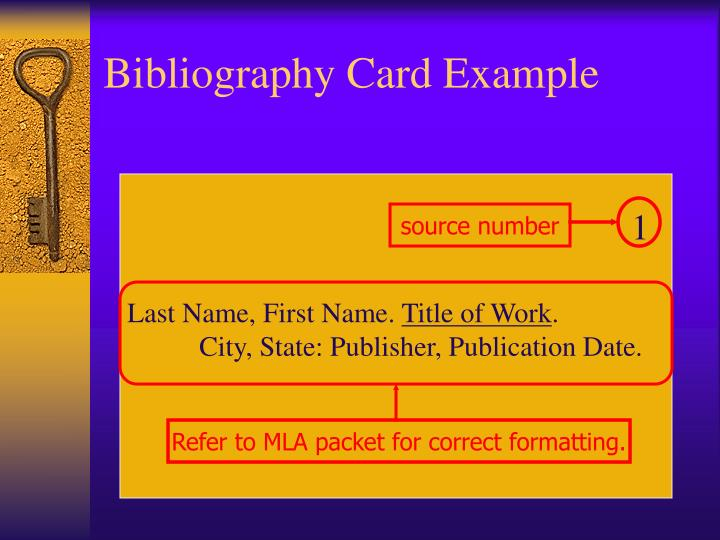 Bibliography Card Example