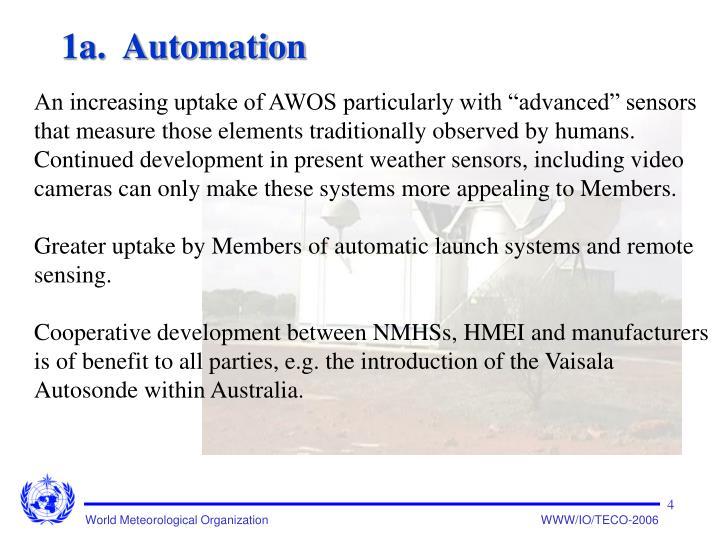 1a.  Automation