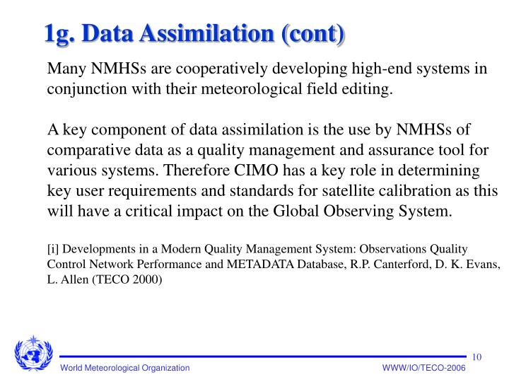 1g. Data Assimilation (cont)