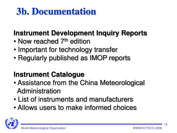 3b. Documentation