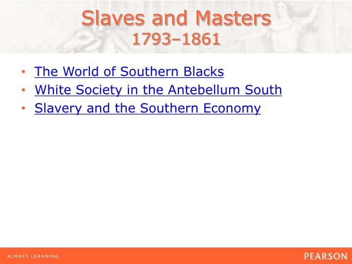 Slaves and masters 1793 18611