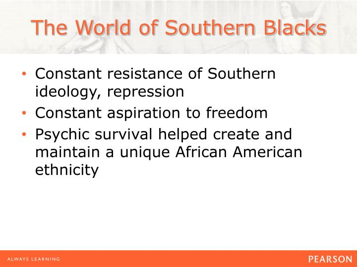 The World of Southern Blacks