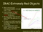 irac extremely red objects