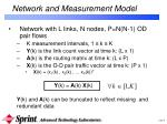network and measurement model