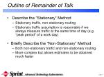 outline of remainder of talk