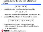 traffic matrix estimation stationary case