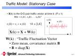 traffic model stationary case