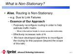 what is non stationary1