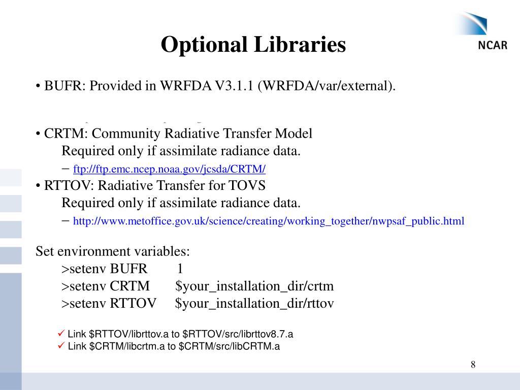 PPT - WRF-Var Setup, Run and Diagnostics PowerPoint